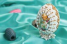 Handmade Deko Ei Ostern Schmuck Ostern Dekoration Ostern Symbol mit Glasperlen