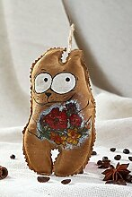 Handmade Deko Katze Stofftier ausgefallenes Spielzeug Geschenkidee fur Freundin