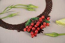 Handmade Frauen Halskette Glasperlen Schmuck Geschenk fur Frauen schon
