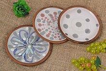 Handmade Keramik Geschirr bunt Teller Keramik