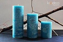 Handmade Rustic Pillar Large Candles Set