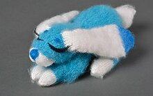 Handmade Strick Kuscheltier Spielzeug Hase Geschenkidee fur Kinder blau