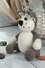 Handmade Strick Kuscheltier Spielzeug Hund
