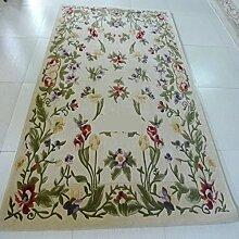 Handmade Wollteppiche/Wohnzimmerteppich Hall Garden Sofa-A 160x230cm(63x91inch)