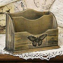 handmade4u Vintage Briefablage Holzablage Ablage