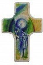 Handschmeichler-Kreuz Engel mit Kind