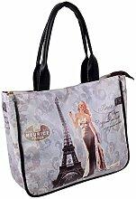 Handtasche Vintage Design Kunstleder