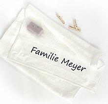 Handtuch 50x100 mit Namen - Geburtstagsgeschenk - Geschenk für Frau & Mann (royalblau)