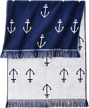 Handtuch Anker, blau (30/50 cm))