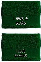 Handtuch für Paare, I Have A Beard I Love Beards,