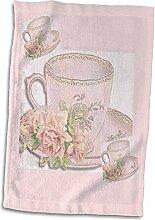 Handtuch mit 3D-Rosenbild eines zarten englischen