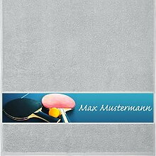 Handtuch mit Namen - personalisiert - Motiv Sport
