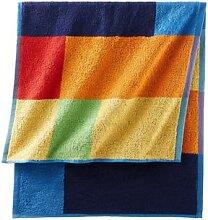 Handtuch mit quadratischem Muster