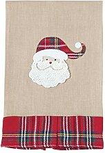 Handtuch mit Weihnachtsmann-Schottenkaro,