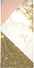 Handtuch Pink and Gold Marble Collage, Juniqe 1x