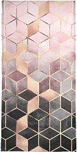 Handtuch Pink Grey Gradient Cubes, Juniqe 1x