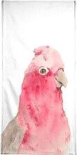Handtuch Pink Parrot, Juniqe 1x 70x140 cm,