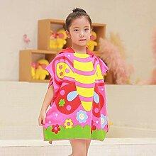 Handtuch Poncho für Kinder Mikrofaser Bademantel