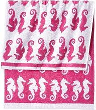 Handtuch Seepferdchen, pink (30/50 cm))