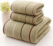 Handtuch Set 3pcs Cotton Waschlappen Handtuch Bad