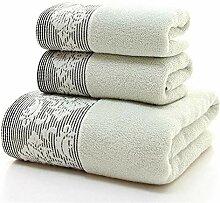 Handtuch Set 3pcs verdickt schnell trocken weiche