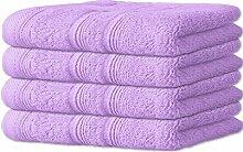 Handtuch-Set 4-teilig 10 Farben, viele Größen