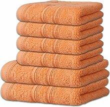 Handtuch-Set 6-teilig 10 Farben, viele Größen