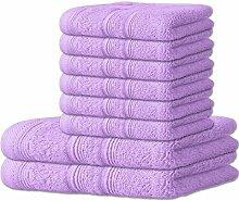 Handtuch-Set 8-teilig 10 Farben, viele Größen