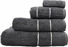 Handtuch-Set Aumont 17 Stories Farbe: Grau