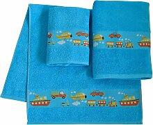 Handtuch Set, Auto, Dyckhoff (Set) 3tlg.-Set blau