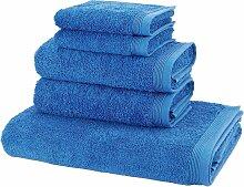 Handtuch Set, Basic, Möve (Set) 5tlg.-Set blau