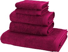 Handtuch Set, Basic, Möve (Set) 5tlg.-Set rosa