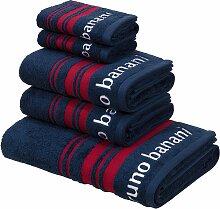 Handtuch Set, Daniel, Bruno Banani 5tlg.-Set blau