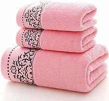 Handtuch Set Einfarbig 3 Stück Baumwolle