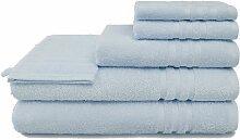 Handtuch Set, grace grand spa 6tlg.-Set blau