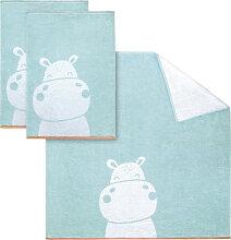 Handtuch Set, Hippo, Dyckhoff 3tlg.-Set grün