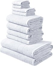 Handtuch Set, Inga, my home (Set) 10tlg.-Set weiß