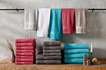 Handtuch Set, Juna, my home (Set) 6tlg.-Set braun