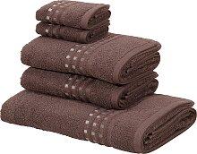Handtuch Set, Kelly, Home affaire (Set) 5tlg.-Set