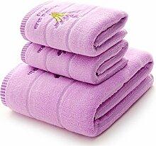 Handtuch Set Satz von 3 Lavendel gedruckt schnell