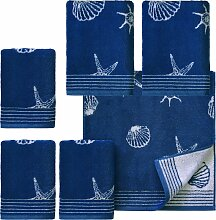 Handtuch Set, Seashell, Dyckhoff (Set) 6tlg.-Set