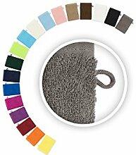 Handtuch Spar Set Dusch- Bade- Sauna- Gäste- Seiftuch Waschhandschuh Badvorleger 500 g/m² Türkis 20 x Waschhandschuh 15 x 21 cm