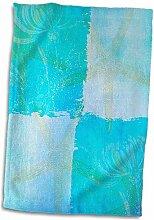 Handtuch / Sporthandtuch mit 3D-Rosen-Motiv und