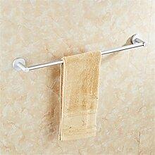 Handtuchhalter Bar Space Aluminium Einpolig Regal Mit Haken Bad Anhänger , towels, single pole, 50 cm