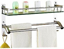 Handtuchhalter Glasregal Toilette Edelstahl