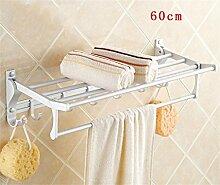 Handtuchhalter Handtuchhalter, Handtuchhalter Raum Aluminium, Badezimmer Folding Handtuchhalter, Bad-Accessoires Badezimmer Handtuchhalter ( Farbe : 3# )