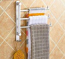 Handtuchhalter Handtuchhalter Silber Raum Aluminium Mit dem Haken Bad Halter Aufbewahrungsregal Regal Bar 2/3/4/5 bar , B
