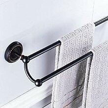 Handtuchhalter Kleiderbügel Schwarz Bronze Bad