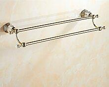 Handtuchhalter/Kristall Volle Kupferstab Doppelstange/Handtuchregal/Bad-accessoires-B
