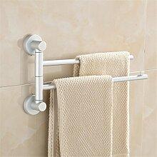 Handtuchhalter Rahmen Halter Bad Haken Badezimmer Regal Stand up Familie Küche Raum Aluminium Aktivität Drehen Pole , avoid punching 2 bars